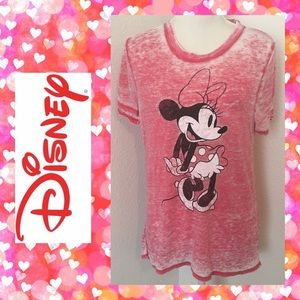 Minnie Mouse Graphic Distressed Tee
